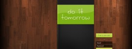 Do It Tomorrow