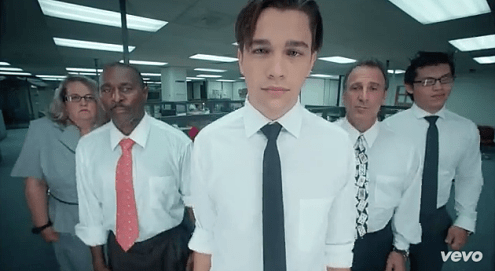 Austin Mahone Does  Dirty Work  In  Office Space  Inspired Music Video