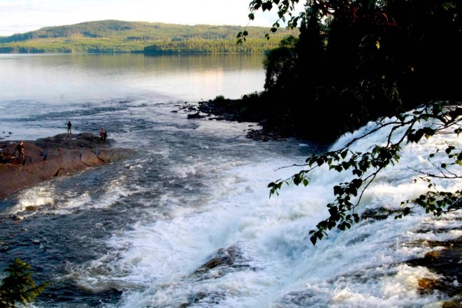 Naturskönt fiske vid Rengsfallet. Foto Anki Hallqvist