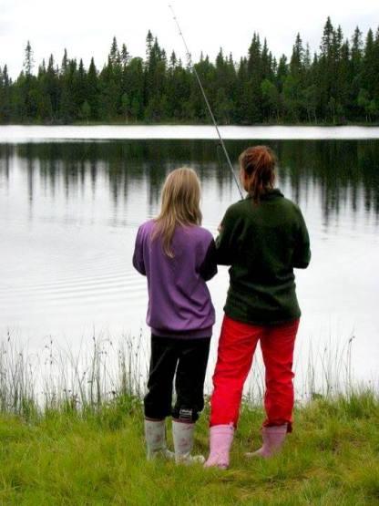 Snart hugger öringen. Foto Anki Hallqvist