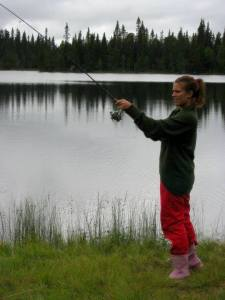 Det finns många tillfällen till fiske i Hotagsbygden. Foto Anki Hallqvist