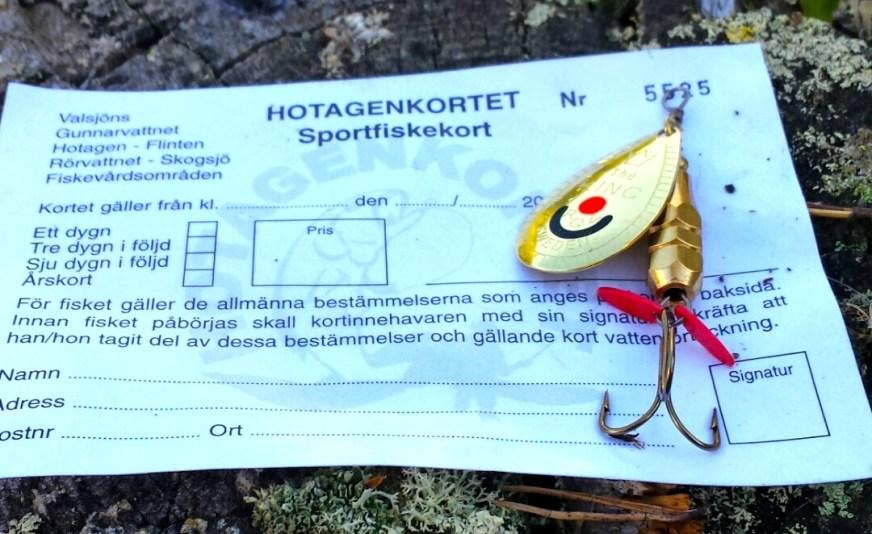 Hotagenkortet, ett fiske med över 100 fiskevatten på ett fiskekort. Foto Maritha Grelsson