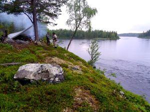 Ett fint sätt att njuta av livet i Hotagsbygden. Foto Patrik Bergdahl
