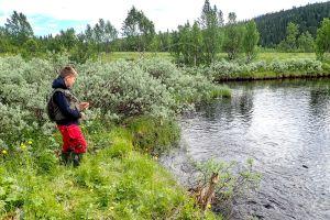 En minnesvärd flugfiskestund. Foto Anders Lundin