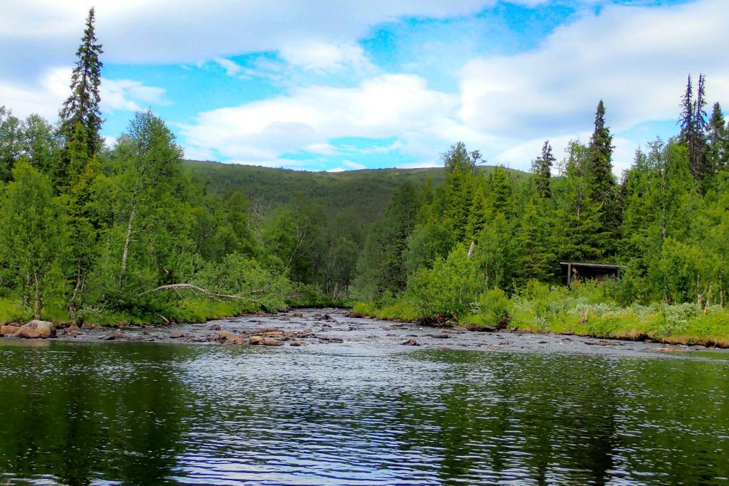 En av alla fiskeplatser i Hotagsbygden. Foto Anders Lundin