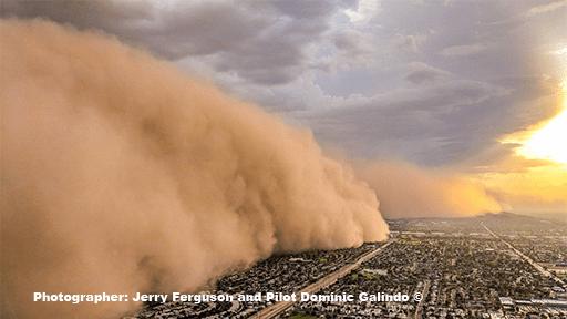 Massive Dust Storm and Monsoon hits Phoenix AZ