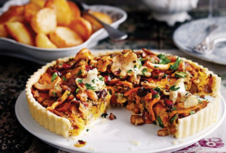 http://www.jamieoliver.com/recipes/vegetables-recipes/vegan-mushroom-chestnut-cranberry-tart/#SfhmhBS1aiQMKzwx.97