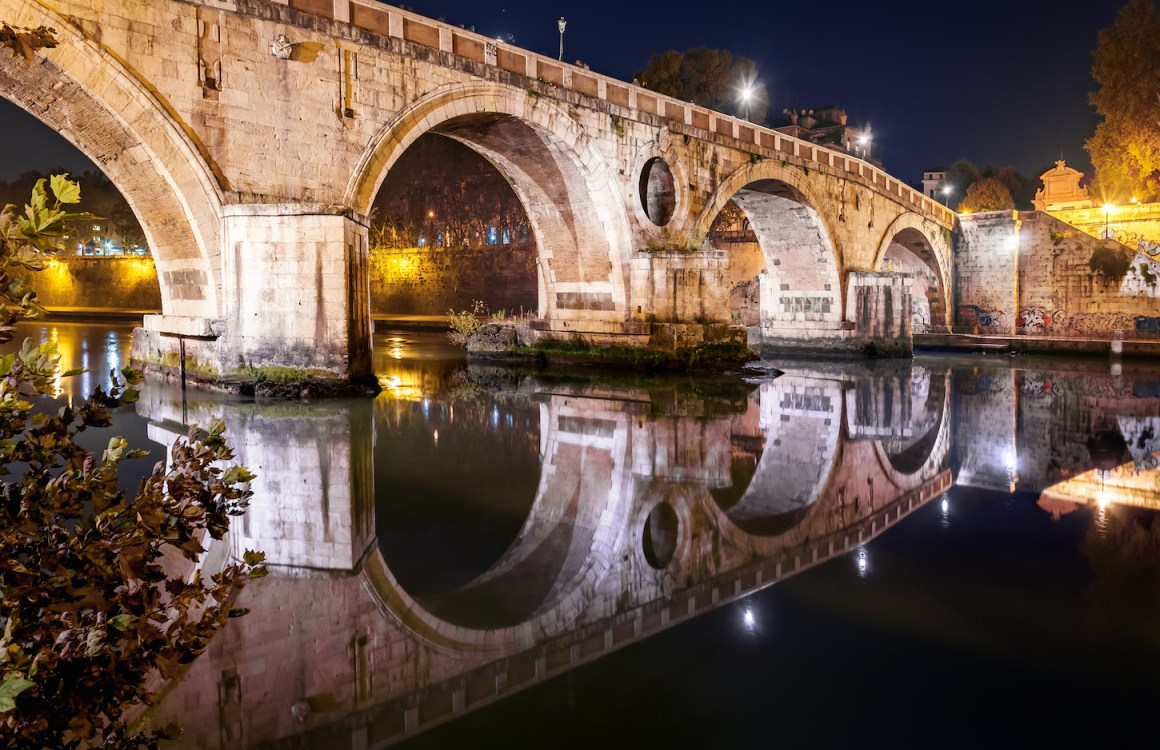 48 horas en Roma - Ponte-Sisto-at-Night_cs