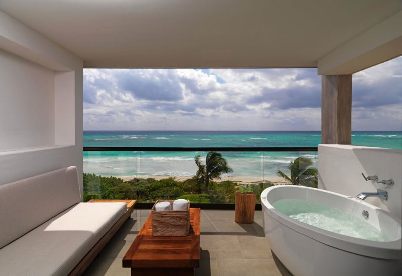 Único 20°87° Hotel Riviera Maya - hotel-univo-riviera-maya-alcoba-balcony