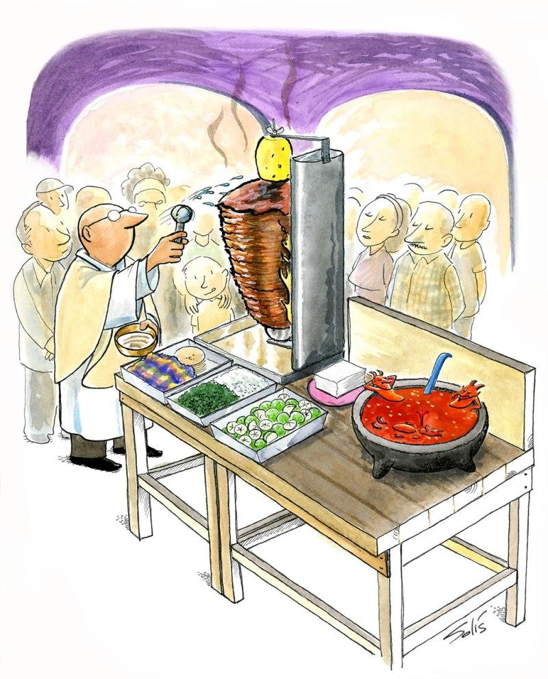 Taqueros. Superstición envuelta en tortilla  - hotsuperstitious-taqueros-ilustracion
