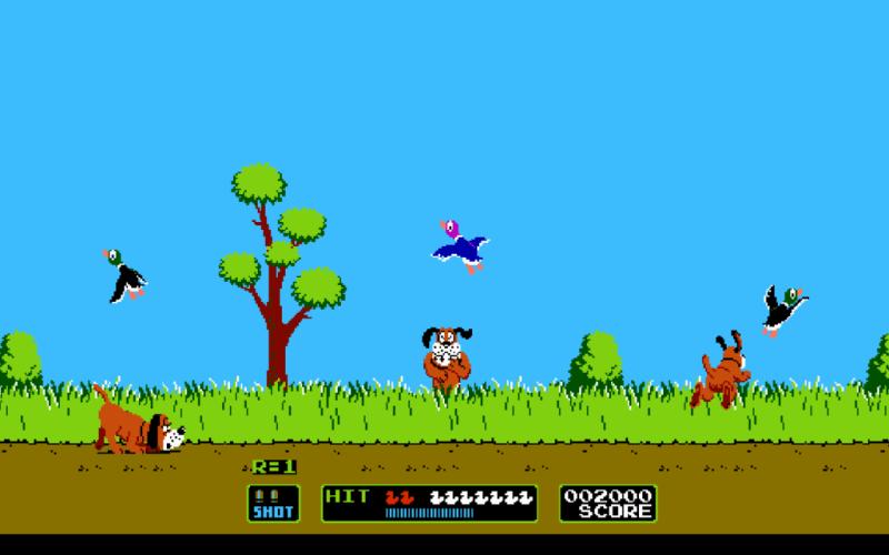 Los mejores videojuegos de los noventas. - 8.-Duck-Hunt