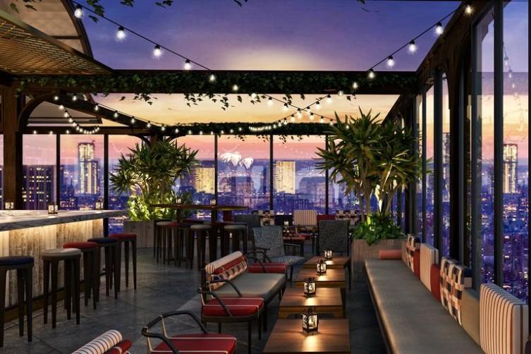 El nuevo hotel Moxy, una divertida alternativa para alojarte en Nueva York - nuevo-hotel-Moxy-3.-Bar