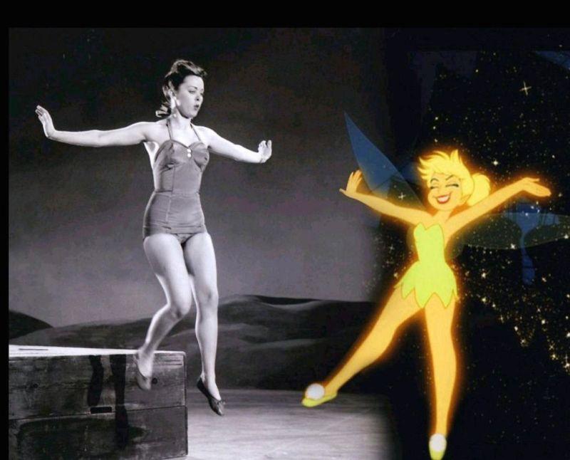 11 fun facts de las películas de Disney - 2-campanita-y-margaret-kerry-disney