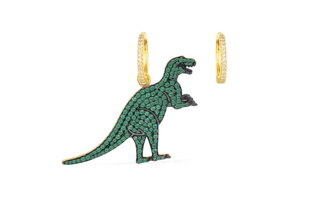 Hotstuff - APM dinosaurio arracadas joyería