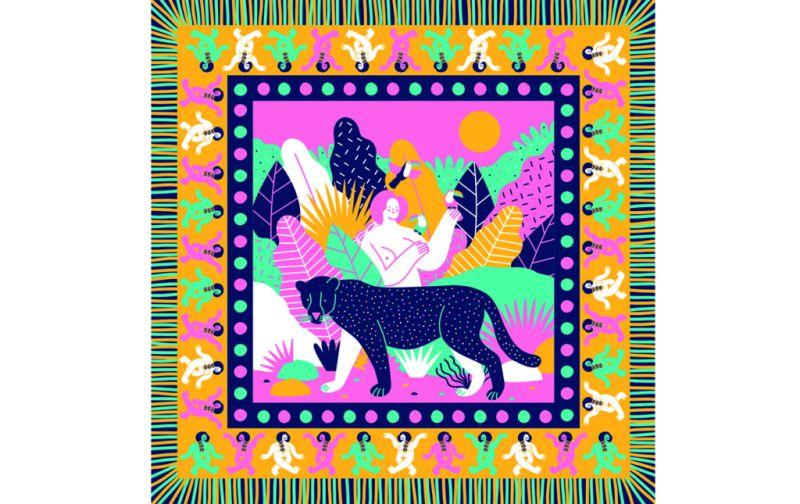 Minerva GM, la mexicana que ilustra los colores de México - minerva-gm-pashmina-selva