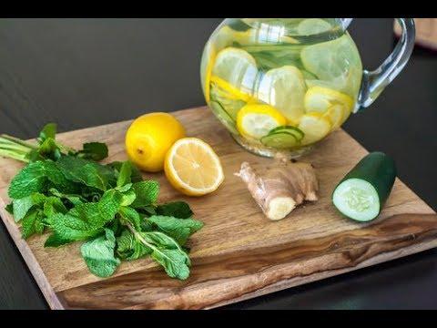 La importancia de hacer un detox - agua-con-jengibre-pepino-y-limon-beneficios-de-una-dieta-detox