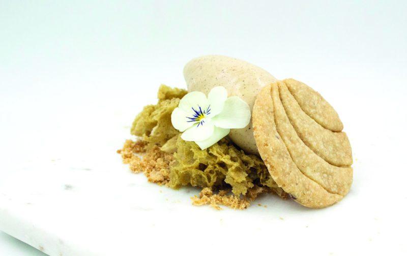 Fragmento - fragmento-_merienda-mexicana_-helado-de-chocolate-abuelitaesponja-avellana-y-topping-de-concha-con-nata