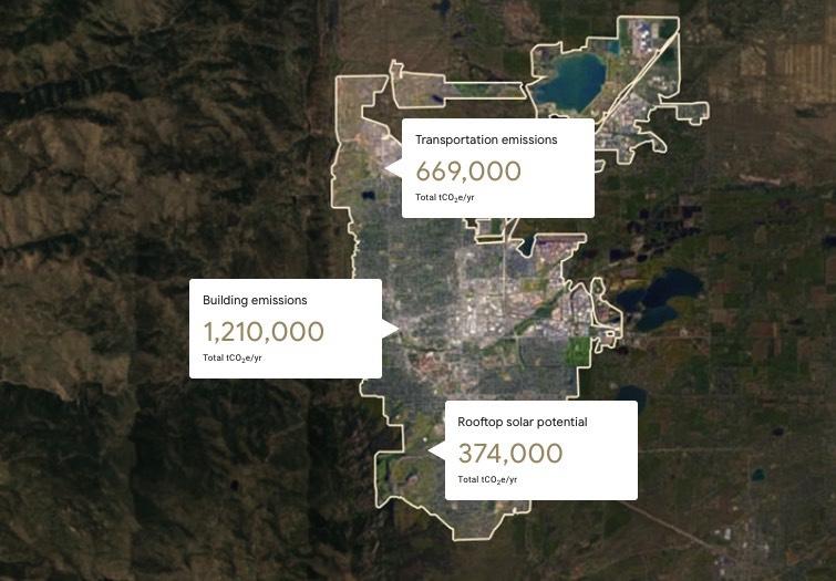 Google ahora puede calcular la huella de carbono de cada ciudad - google-maps-huella-de-carbono-1