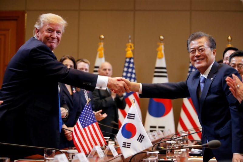 Corea del Norte y Corea del Sur declaran la paz - pazcorea_trump_moon