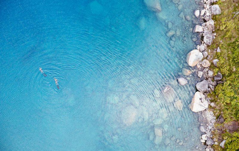 Bestiario Pardo, experiencias en los bosques del pacífico canadiense - mar-snorkeling-nadar-agua-piedras
