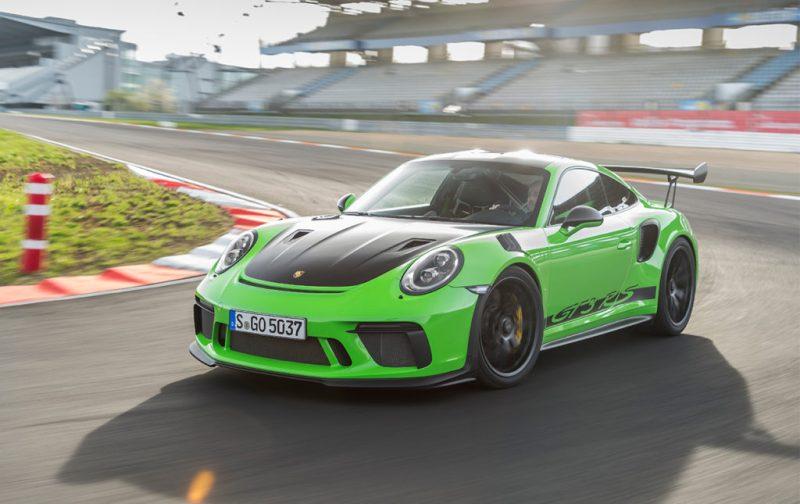 El Porsche 911 GT3 RS, una referencia para los automóviles deportivos - porsche-auto-deportivo-verde-velocidad