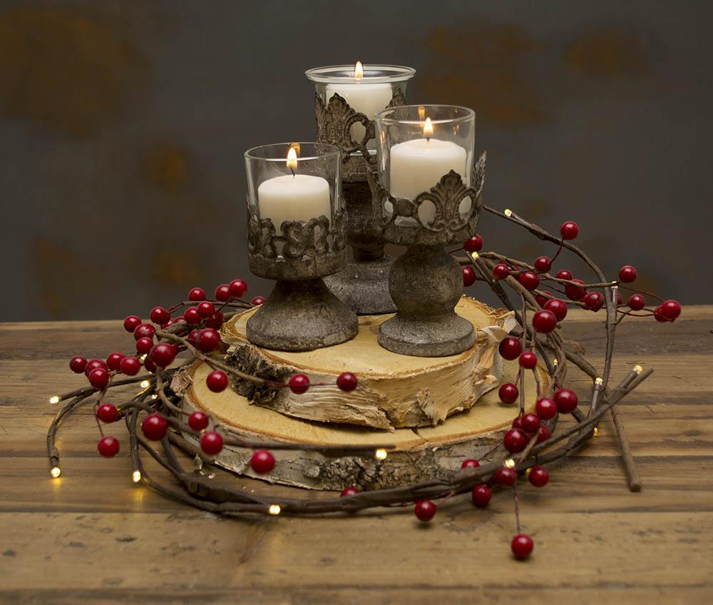 Centros de mesa navideños fáciles y rápidos de hacer - 3-madera
