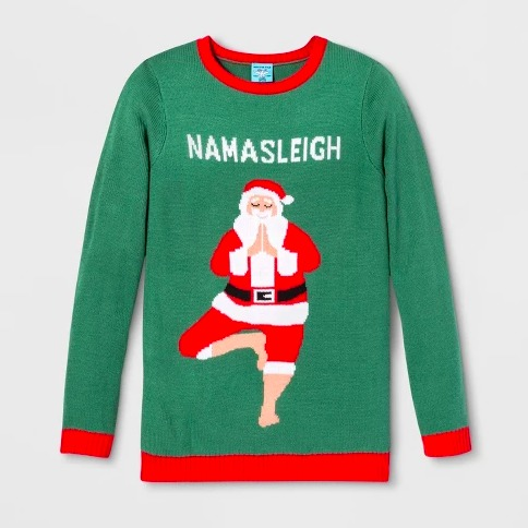 Inspiración para tu próxima Ugly Christmas Sweater Party - namasleigh-santa-ugly-sweater