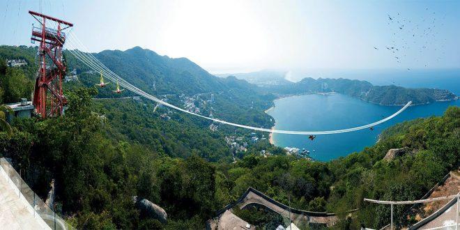Actividades diferentes que puedes hacer en Acapulco - xtasea-la-tirolesa-mas-grande-del-mundo-sobre-el-mar-en-acapulco-660x330