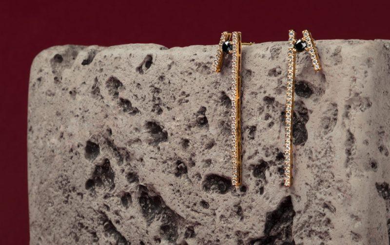 Georgina Rojo: joyería inspirada en la naturaleza - aretes-colgantes-diamantes-joyeria