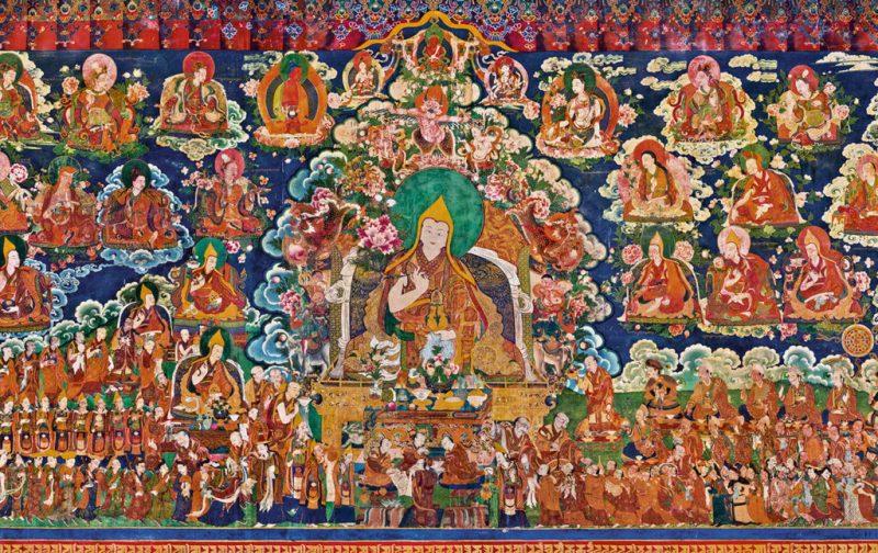 Thomas Laird y los murales del Tíbet - mural-colores-historia-arte-pintura