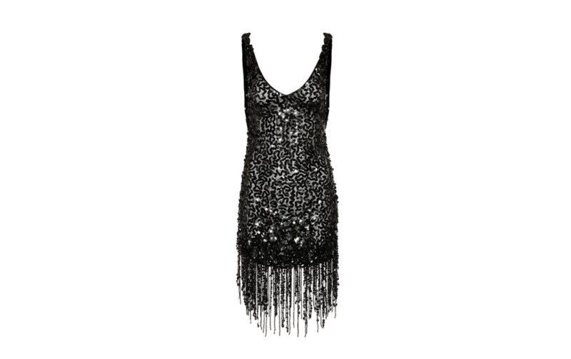 Hot stuff: las piezas que no deben faltar en tu clóset - vestido-negro-flecos-attico