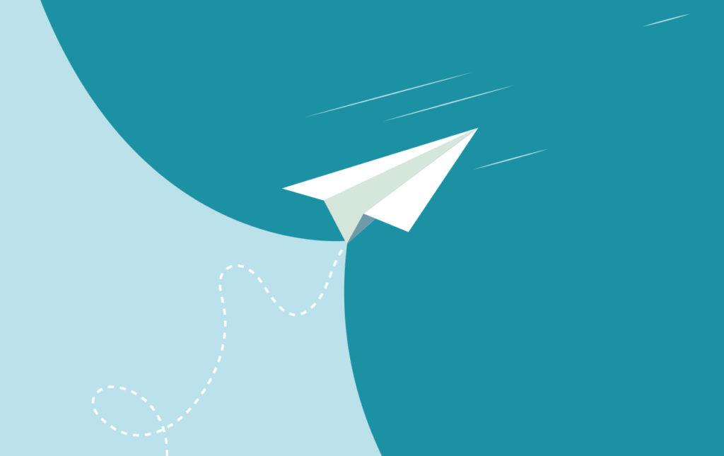 """""""La maleta"""", un cuento corto de Terry Guindi - la maleta ilustración avión papel"""