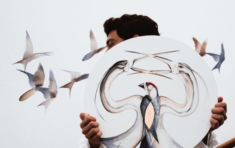 Esteban Fuentes de María, pintor por naturaleza - artista-pajaros-aves-lienzo-arte