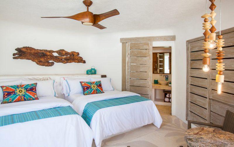 Mahekal Beach Resort, un paraíso en el Caribe mexicano - camas-cuarto-mahekal