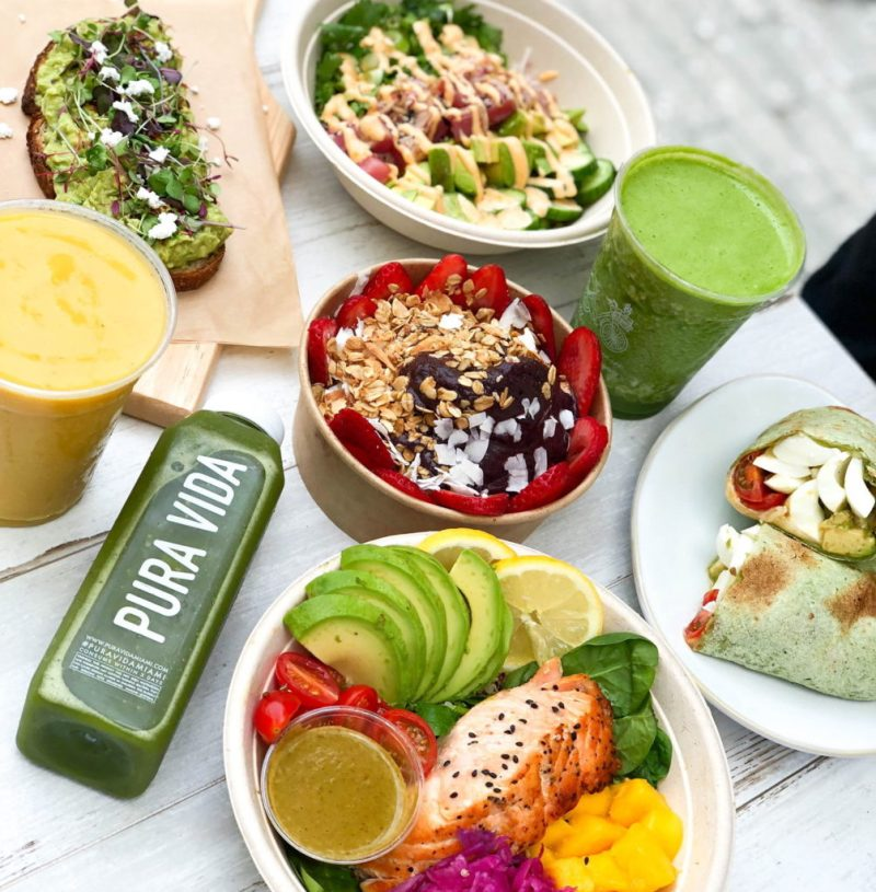 Los mejores restaurantes de comida saludable en Miami - lugaressaludablesmiami_puravida