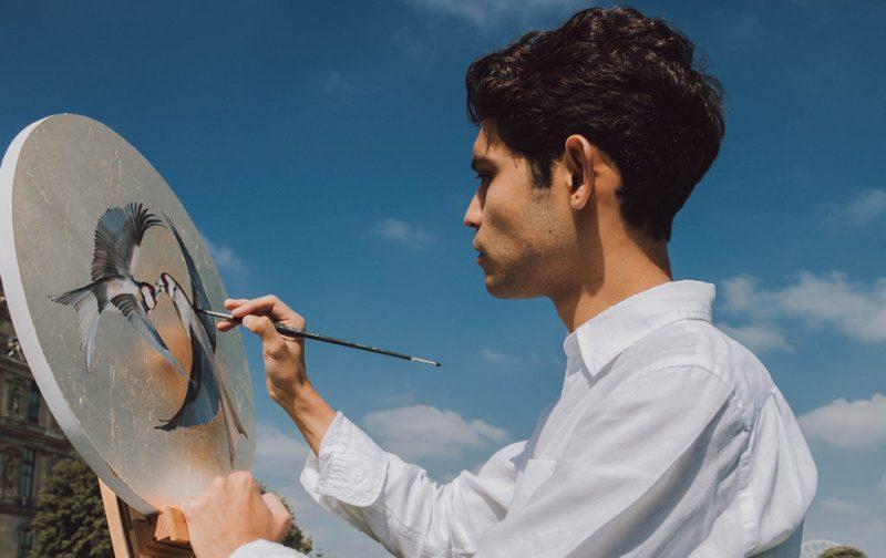 Esteban Fuentes de María, pintor por naturaleza - pintura-pajaros-arte-circulo-artista