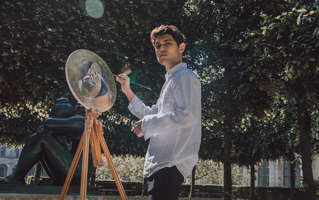 Esteban Fuentes de María, pintor por naturaleza - PORTADA pintura artista cuadro pájaros