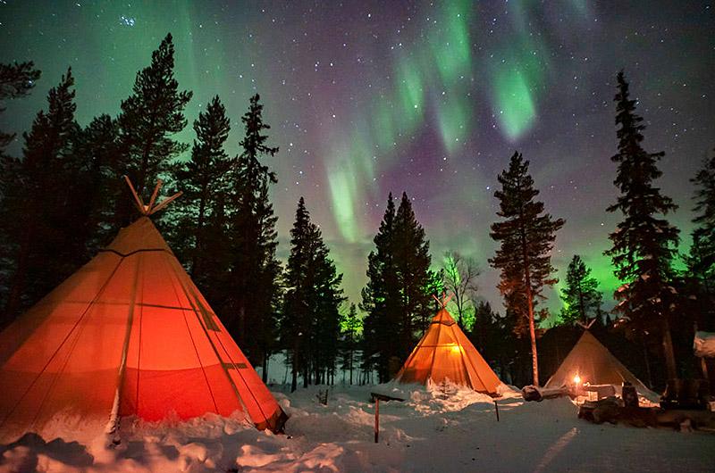 Hoteles ecológicos en el mundo que debes conocer - sapmi-nature-camp-en-laponia-suecia