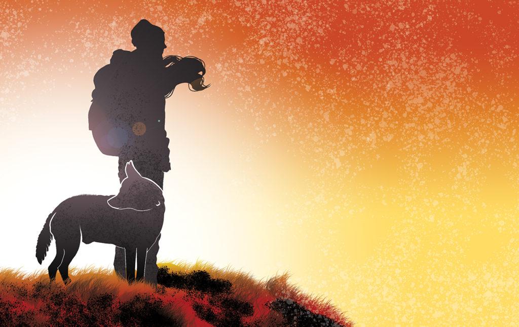 Todo lo que tienes que saber para disfrutar del trekking - PORTADA hotetiquette amanecer perro