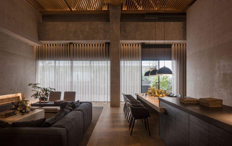 Entrevista exclusiva: Alonso de Garay - sala-comedor-casa-moderna-arquitectura-concreto-madera