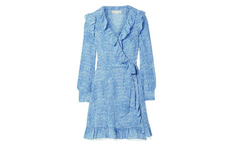 Los must-have de esta temporada - women_s-blue-ruffled-printed-silk-crepe-de-chine-mini-wrap-dress
