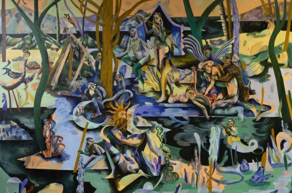 Jessie Makinson presenta su primera exposición en la Ciudad de México - 1. My fins are sleeping, 300 x 210cm