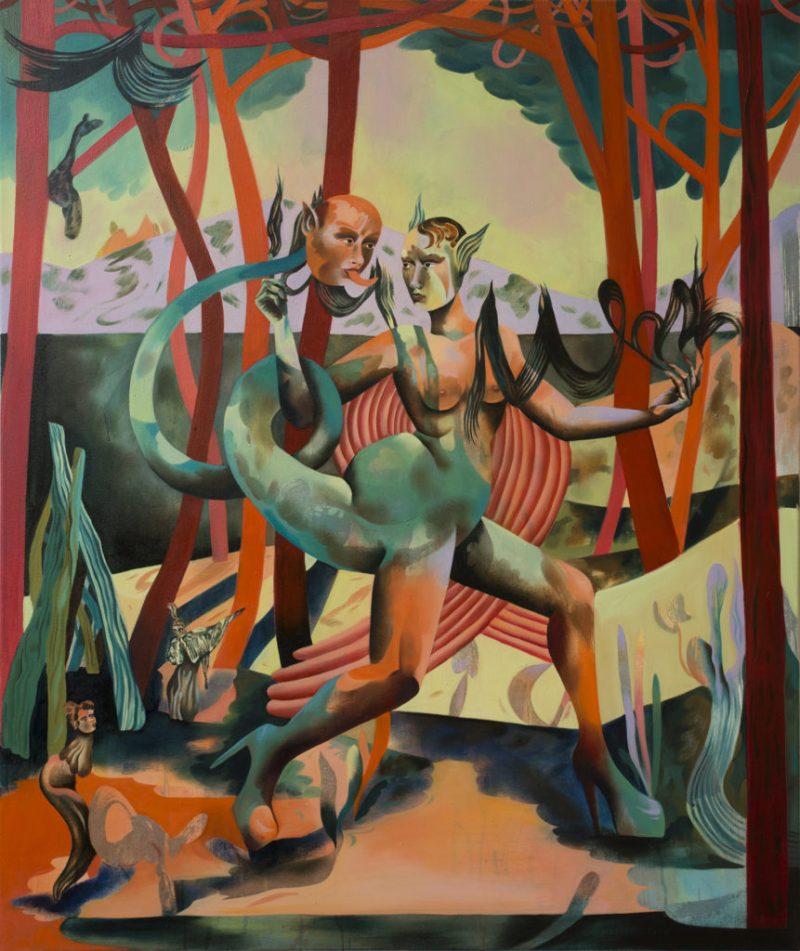 Jessie Makinson presenta su primera exposición en la Ciudad de México - 2-magma-rising-100-x-120cm