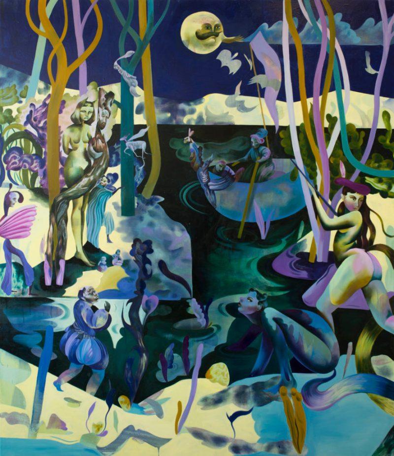 Jessie Makinson presenta su primera exposición en la Ciudad de México - 4-lunar-thorn-190-x-165cm
