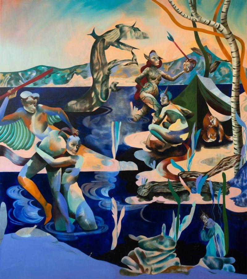 Jessie Makinson presenta su primera exposición en la Ciudad de México - 8-to-foam-and-bloom-190-x-165cm