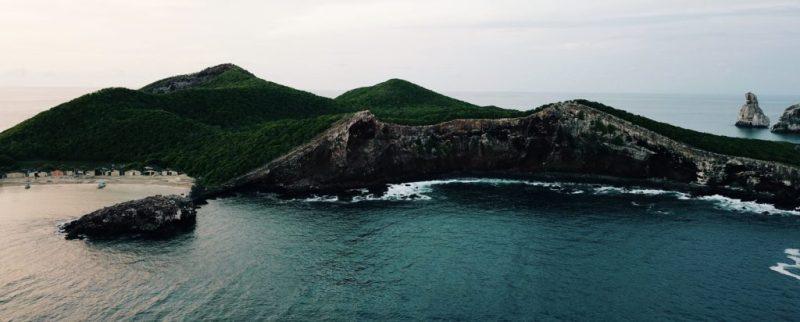 Isla Isabel, un paraíso en la costa de Nayarit - isla-isabel-drone-view
