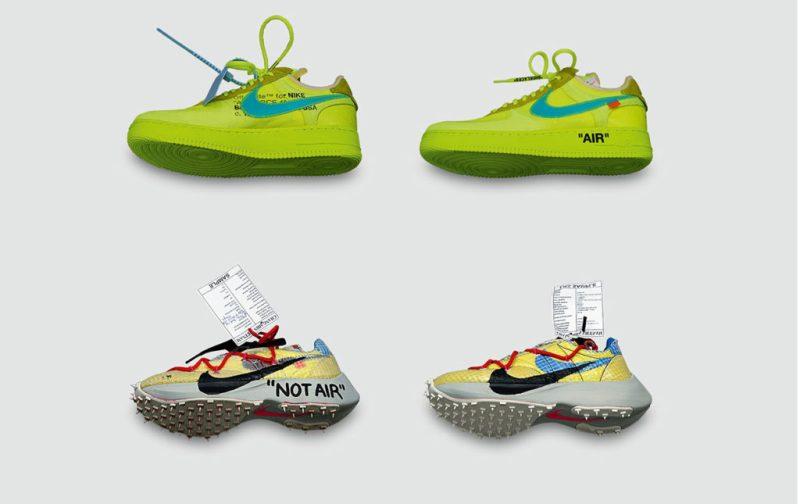 Virgil Abloh & Kaws: streetwear y arte - hotbook_hotart_virgil_moda_sneakers_nike_verde_neon_intervencion_notair