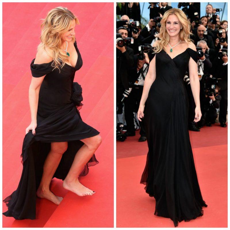 Cannes Rebels: el estricto código de vestimenta del festival y quién lo ha roto - julia-roberts-cannes-rebels-el-estricto-codigo-de-vestimenta-del-festival-de-cannes-y-quien-lo-ha-roto-zoom-cannes-film-festival-online-tiktok-instagram-foodie