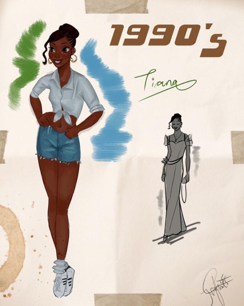 Amit Naftali, un joven ilustrador, dibuja a las princesas de Disney en distintas épocas - amit-naftali-un-joven-ilustrador-dibuja-a-las-princesas-de-disney-en-distintas-epocas-princess-google-online-verano-viajes-google-zoom-instagram-tiktok-foodie-recetas-como-hacer-a-donde-ir-summe-2