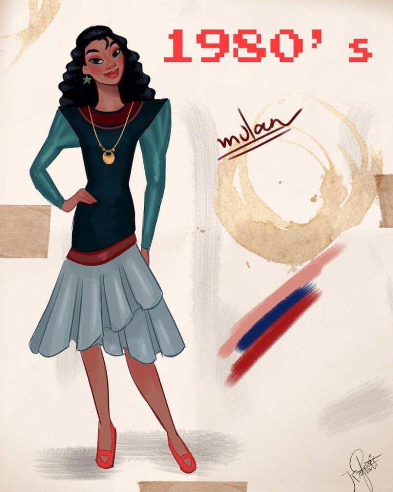 Amit Naftali, un joven ilustrador, dibuja a las princesas de Disney en distintas épocas - amit-naftali-un-joven-ilustrador-dibuja-a-las-princesas-de-disney-en-distintas-epocas-princess-google-online-verano-viajes-google-zoom-instagram-tiktok-foodie-recetas-como-hacer-a-donde-ir-summe-3